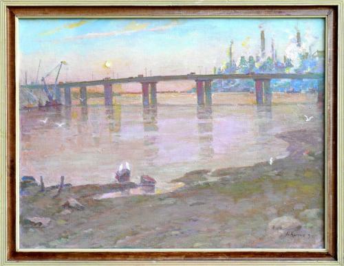 Д. Кічко. Пейзаж з мостовим переходом